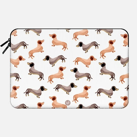 Wonder Forest Darling Dachshunds Macbook Case -