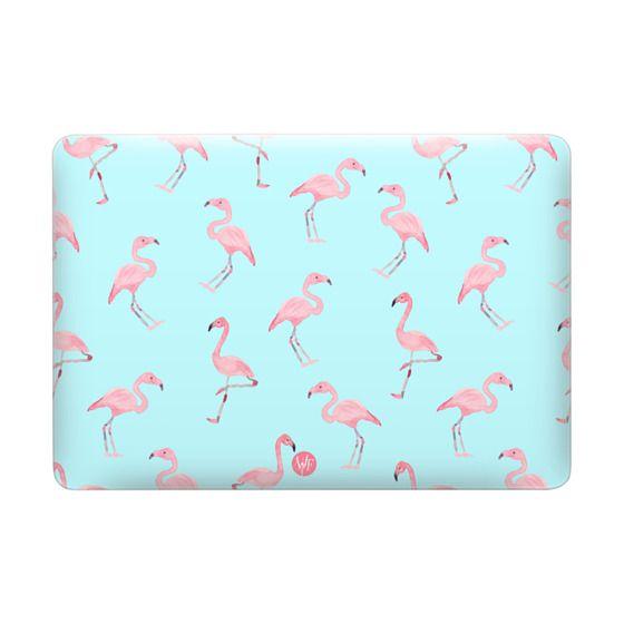 Pink Flamingos by Wonder Forest MacBook Case