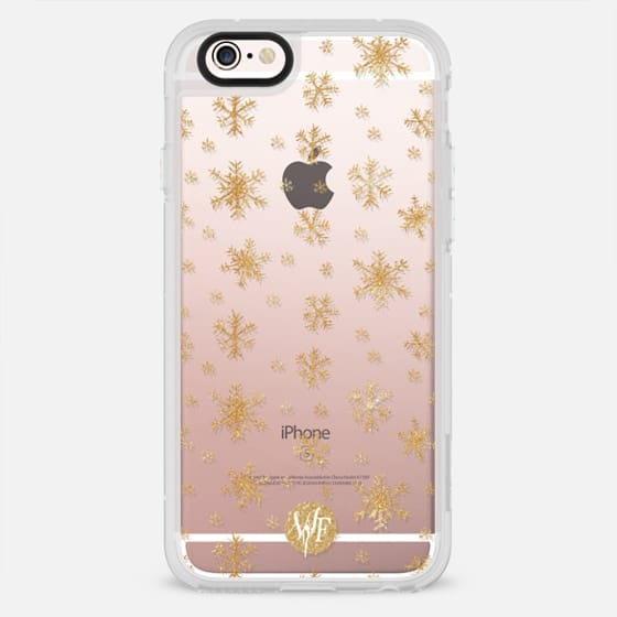 Let It Snow Sparkle Clear Case by Wonder Forest - New Standard Case