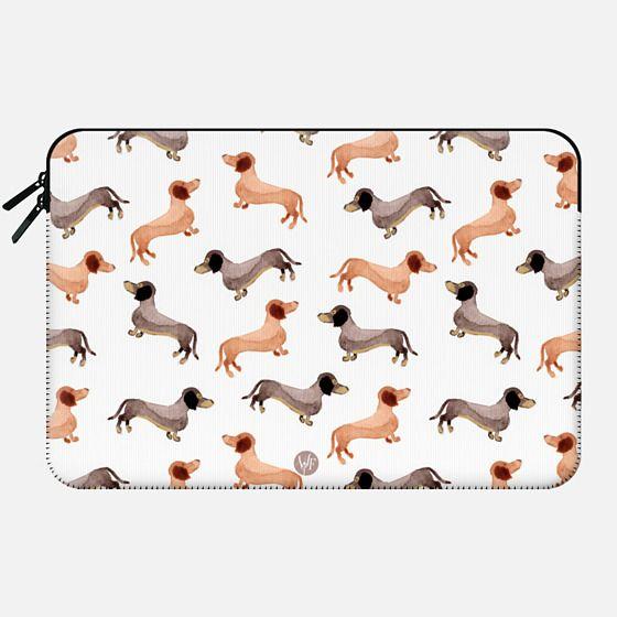 Wonder Forest Darling Dachshunds Macbook Case -