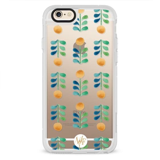 iPhone 6s Cases - Retro Blooms Clear Case by Wonder Forest