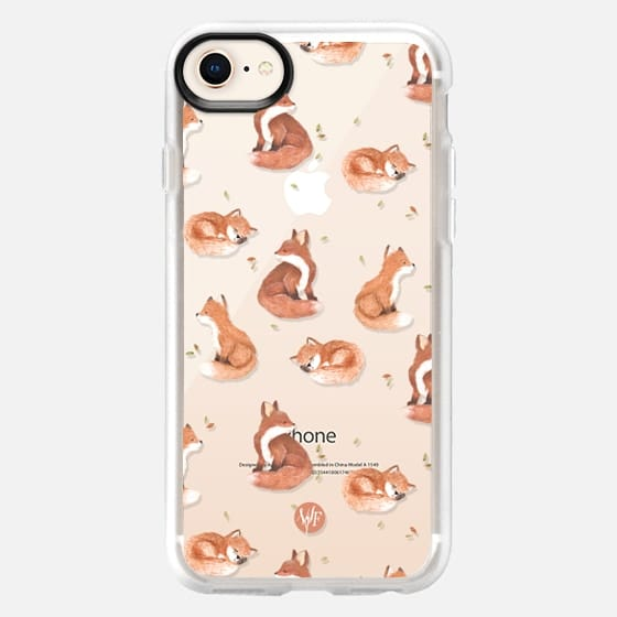 Fancy Foxes Clear Case by Wonder Forest - Snap Case