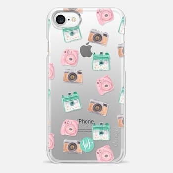 iPhone 7 Case Camera Collector Clear Pink by Wonder Forest