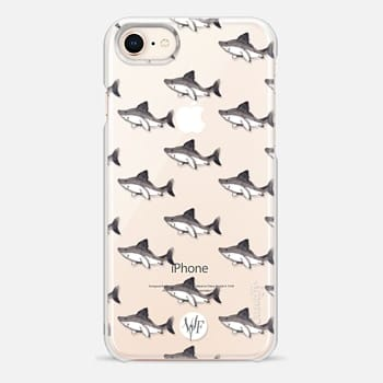 iPhone 8 Case Satisfied Sharks by Wonder Forest