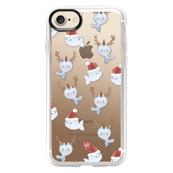 iPhone 7 Cases - Naughty Narwhals Christmas Case by Wonder Forest