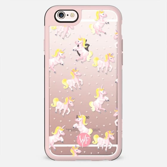 Magical Unicorns Transparent Case by Wonder Forest - New Standard Case