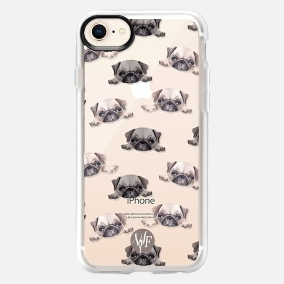 Pouty Pugs Clear Case by Wonder Forest - Snap Case