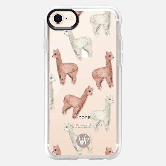 Allover Alpacas Clear Case by Wonder Forest - Snap Case