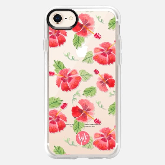 Hawaii Hibiscus Clear Case by Wonder Forest - Snap Case