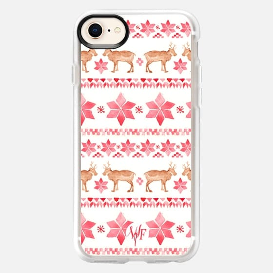 Christmas Sweater - Watercolour Painted Case by Wonder Forest - Snap Case