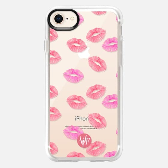 Kiss Kiss - Transparent Watercolor Case by Wonder Forest - Snap Case