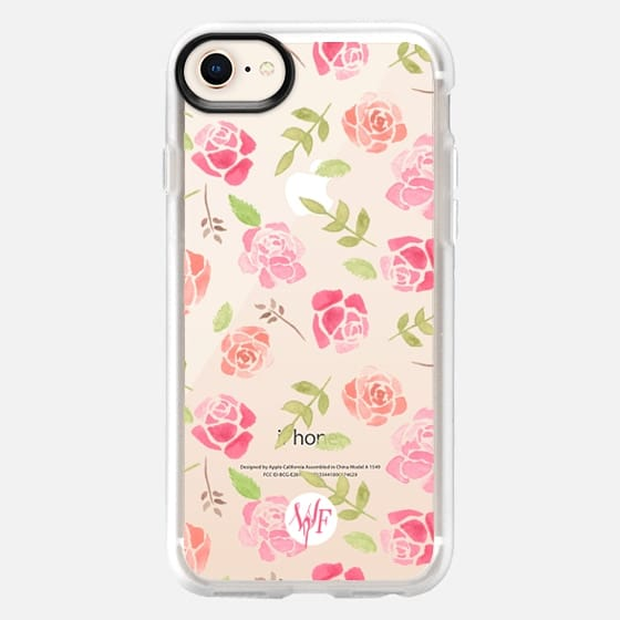 Bed of Roses Transparent  - Watercolor Painted Case by Wonder Forest - Snap Case
