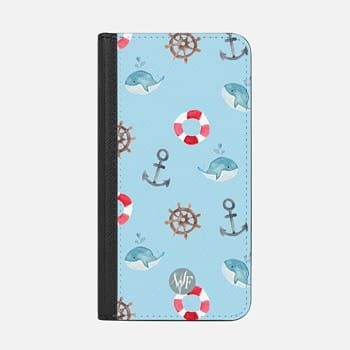iPhone Wallet Case -  Nautical Necessities by Wonder Forest