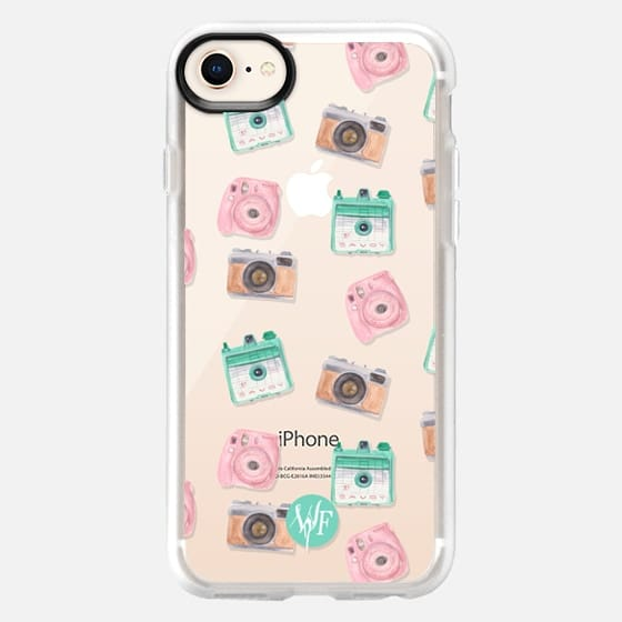 Camera Collector Clear Pink by Wonder Forest - Snap Case