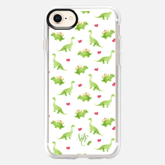 Dinosaur Love - Watercolour Painted Case by Wonder Forest - Snap Case