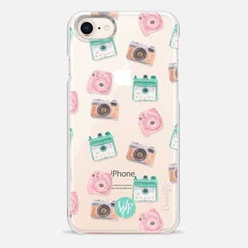 iPhone 8 Case Camera Collector Clear Pink by Wonder Forest