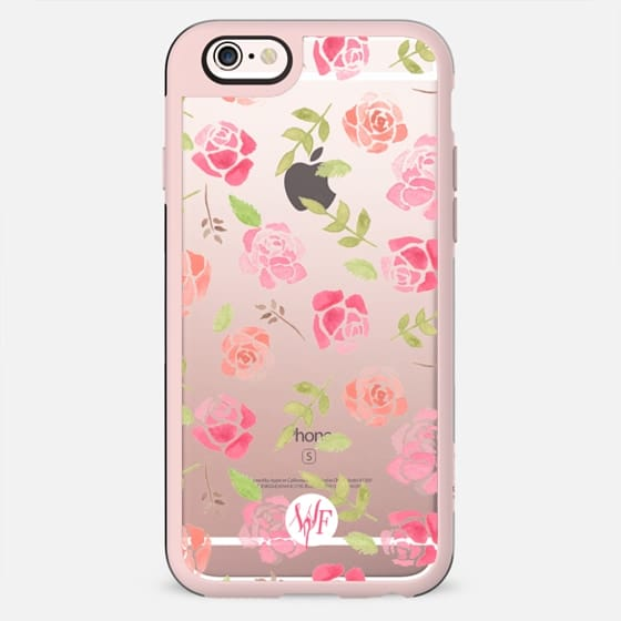 Bed of Roses Transparent  - Watercolor Painted Case by Wonder Forest - New Standard Case