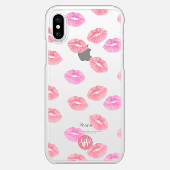 Kiss Kiss - Transparent Watercolor Case by Wonder Forest