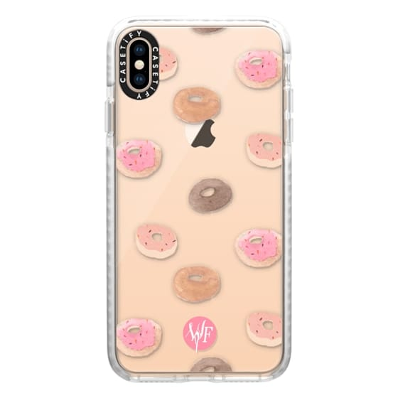 Delicious Donuts - Transparent Watercolor Case by Wonder Forest
