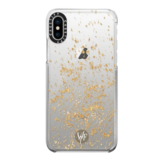 iPhone X Cases - Gold Flakes Case by Wonder Forest
