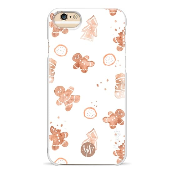 iPhone 6 Cases - Christmas Cookies v2 Watercolor Painted Case