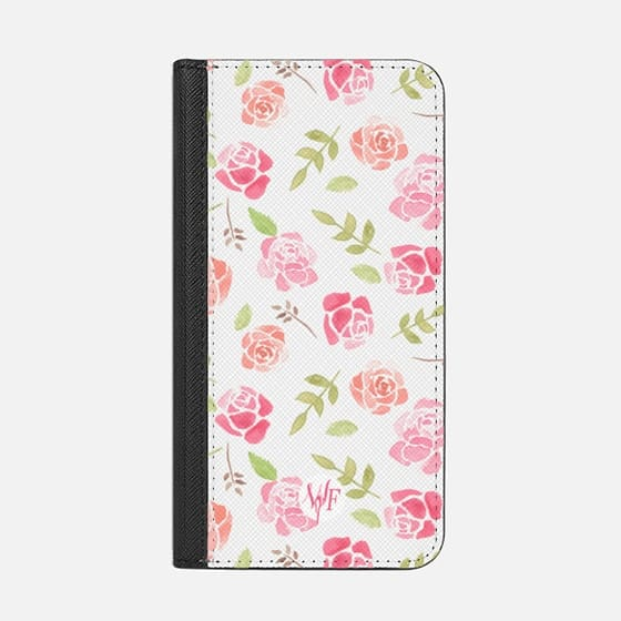 Bed of Roses Transparent  - Watercolor Painted Case by Wonder Forest