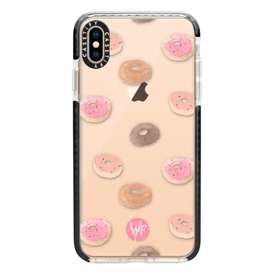 iPhone XS Max Cases - Delicious Donuts - Transparent Watercolor Case by Wonder Forest