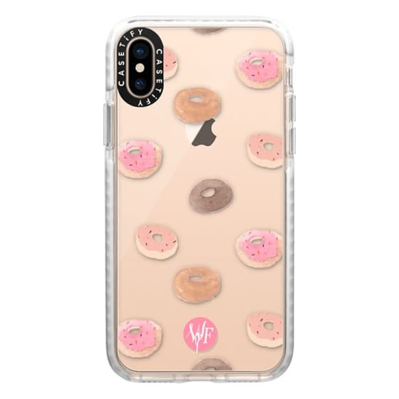 iPhone XS Cases - Delicious Donuts - Transparent Watercolor Case by Wonder Forest