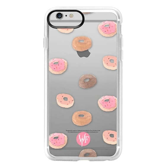 iPhone 6 Plus Cases - Delicious Donuts - Transparent Watercolor Case by Wonder Forest