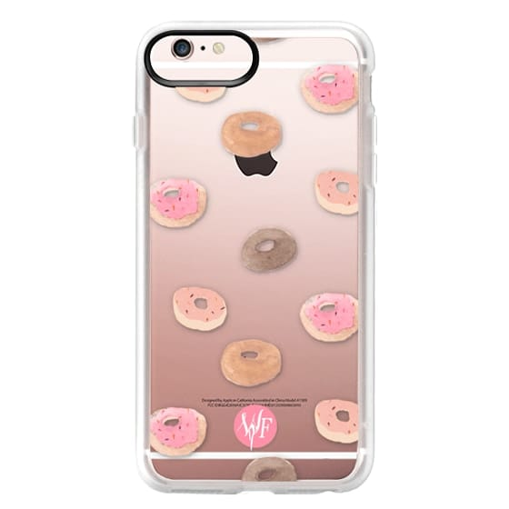 iPhone 6s Plus Cases - Delicious Donuts - Transparent Watercolor Case by Wonder Forest
