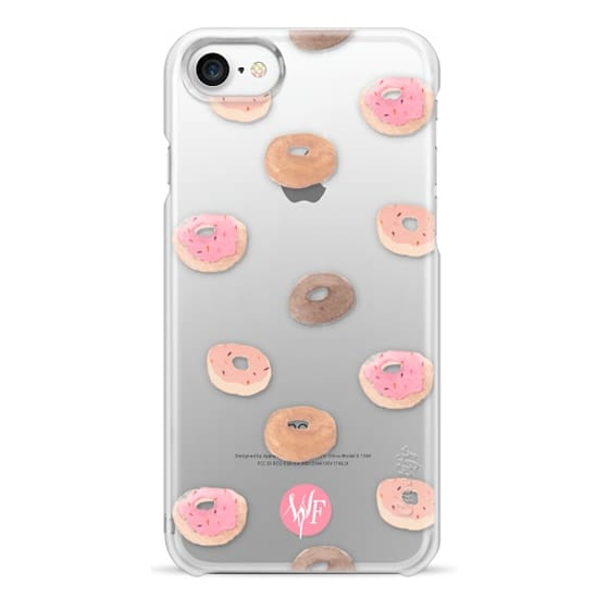 iPhone 7 Cases - Delicious Donuts - Transparent Watercolor Case by Wonder Forest