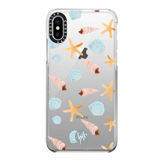 iPhone X Cases - Swept Ashore Clear Case by Wonder Forest