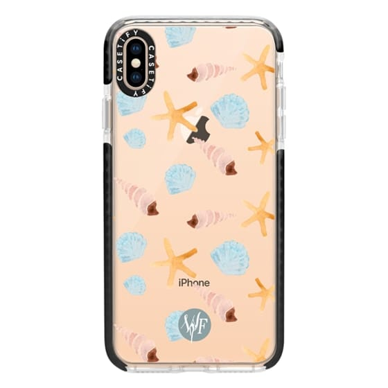 iPhone XS Max Cases - Swept Ashore Clear Case by Wonder Forest
