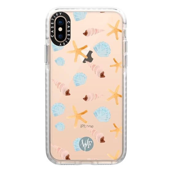 iPhone XS Cases - Swept Ashore Clear Case by Wonder Forest