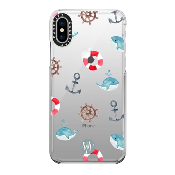 iPhone X Cases - Nautical Necessities Clear Case by Wonder Forest