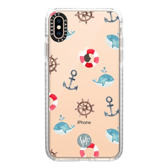 iPhone XS Max Cases - Nautical Necessities Clear Case by Wonder Forest