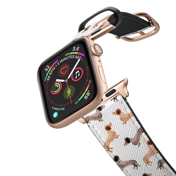 Apple Watch 42mm Bands - Wonder Forest Darling Dachshunds Apple Watch Band