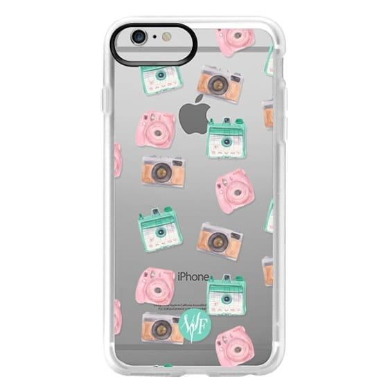 iPhone 6 Plus Cases - Camera Collector Clear Pink by Wonder Forest