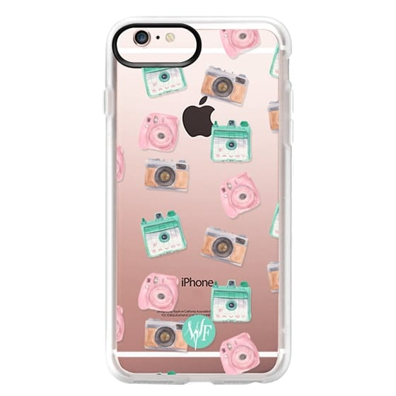 iPhone 6s Plus Cases - Camera Collector Clear Pink by Wonder Forest