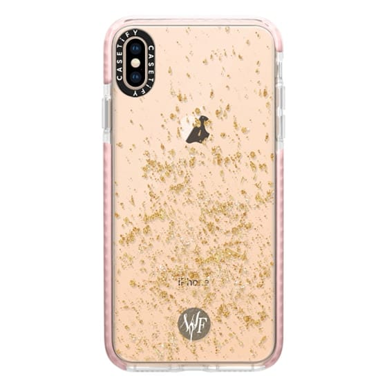 iPhone XS Max Cases - Gold Flakes Case by Wonder Forest