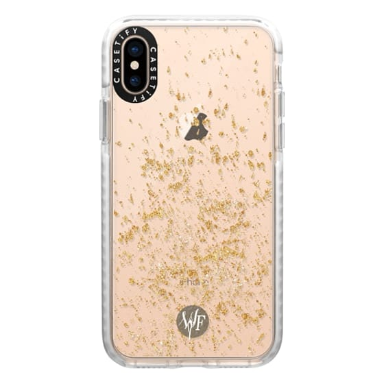 iPhone XS Cases - Gold Flakes Case by Wonder Forest
