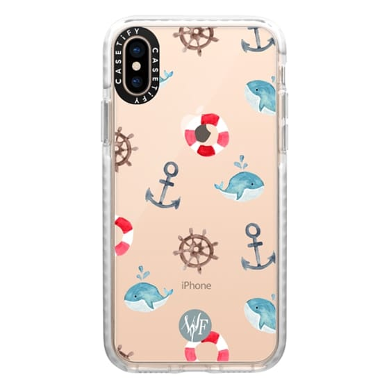 iPhone XS Cases - Nautical Necessities Clear Case by Wonder Forest