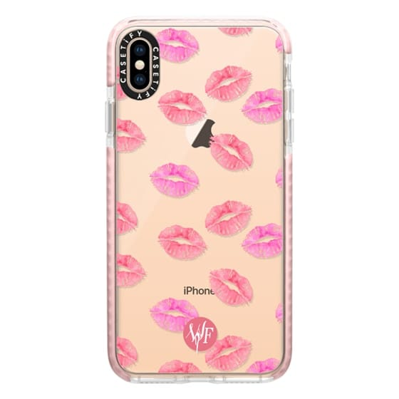 iPhone XS Max Cases - Kiss Kiss - Transparent Watercolor Case by Wonder Forest