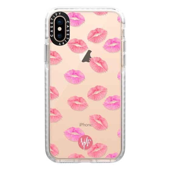 iPhone XS Cases - Kiss Kiss - Transparent Watercolor Case by Wonder Forest