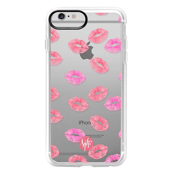 iPhone 6 Plus Cases - Kiss Kiss - Transparent Watercolor Case by Wonder Forest