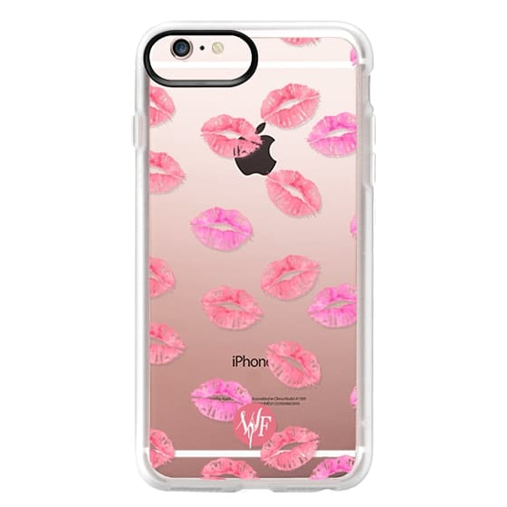 iPhone 6s Plus Cases - Kiss Kiss - Transparent Watercolor Case by Wonder Forest