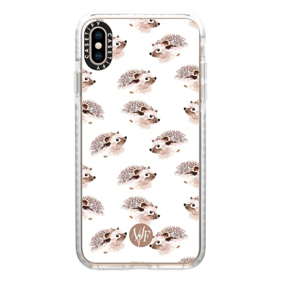 iPhone XS Max Cases - Happy Hedgehog - Watercolor Painted Case by Wonder Forest