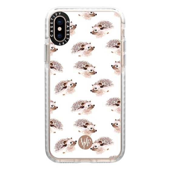 iPhone XS Cases - Happy Hedgehog - Watercolor Painted Case by Wonder Forest