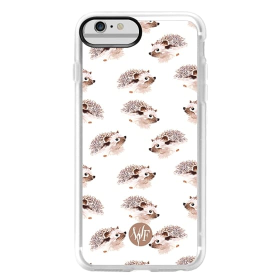 iPhone 6 Plus Cases - Happy Hedgehog - Watercolor Painted Case by Wonder Forest