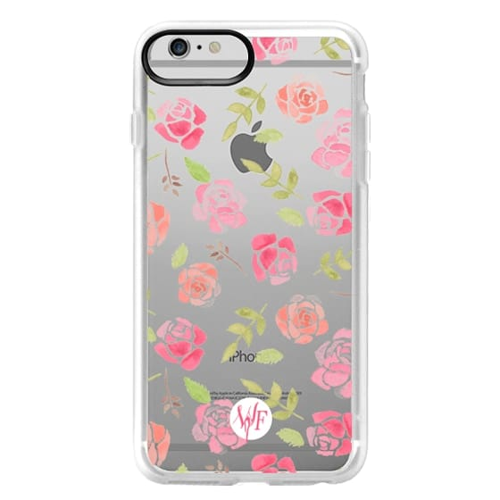 iPhone 6 Plus Cases - Bed of Roses Transparent  - Watercolor Painted Case by Wonder Forest